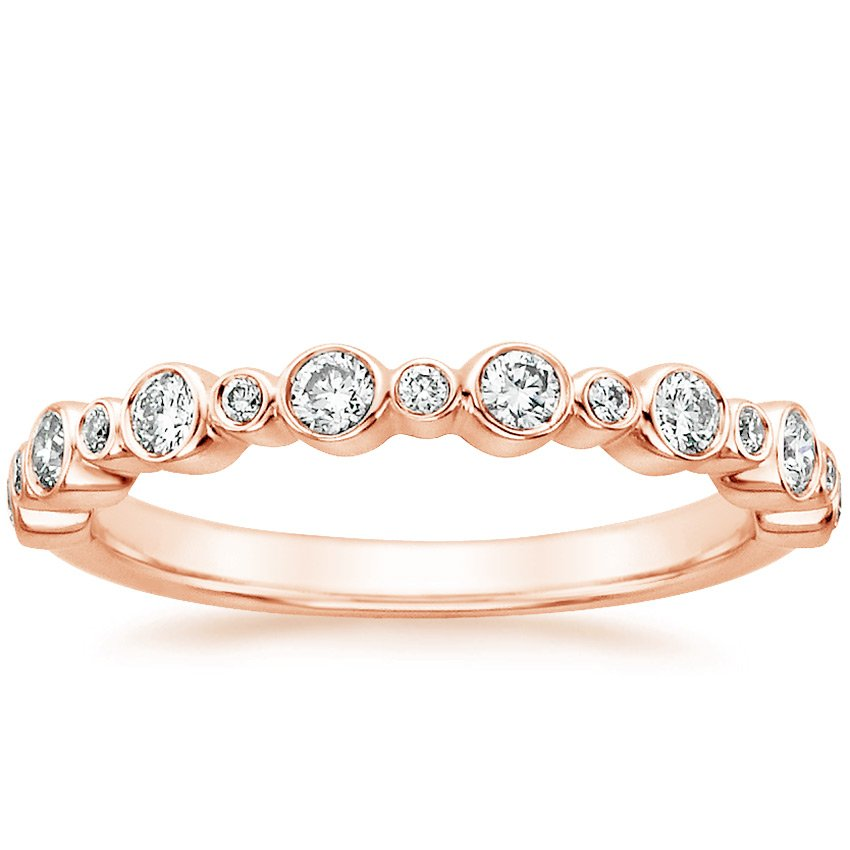 14K Rose Gold Isla Diamond Ring (1/4 ct. tw.), top view