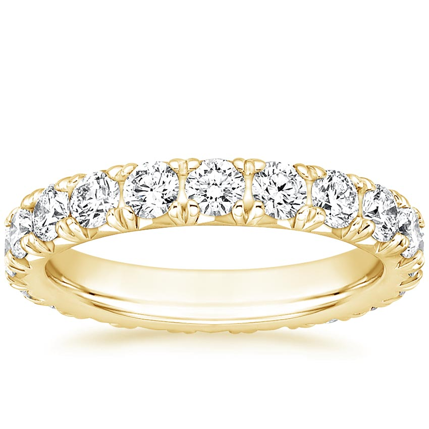 Yellow Gold French Pavé Eternity Diamond Ring (2 ct. tw.)