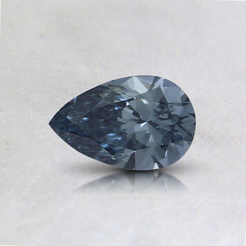 0.34 Ct. Fancy Intense Blue Pear Lab Created Diamond