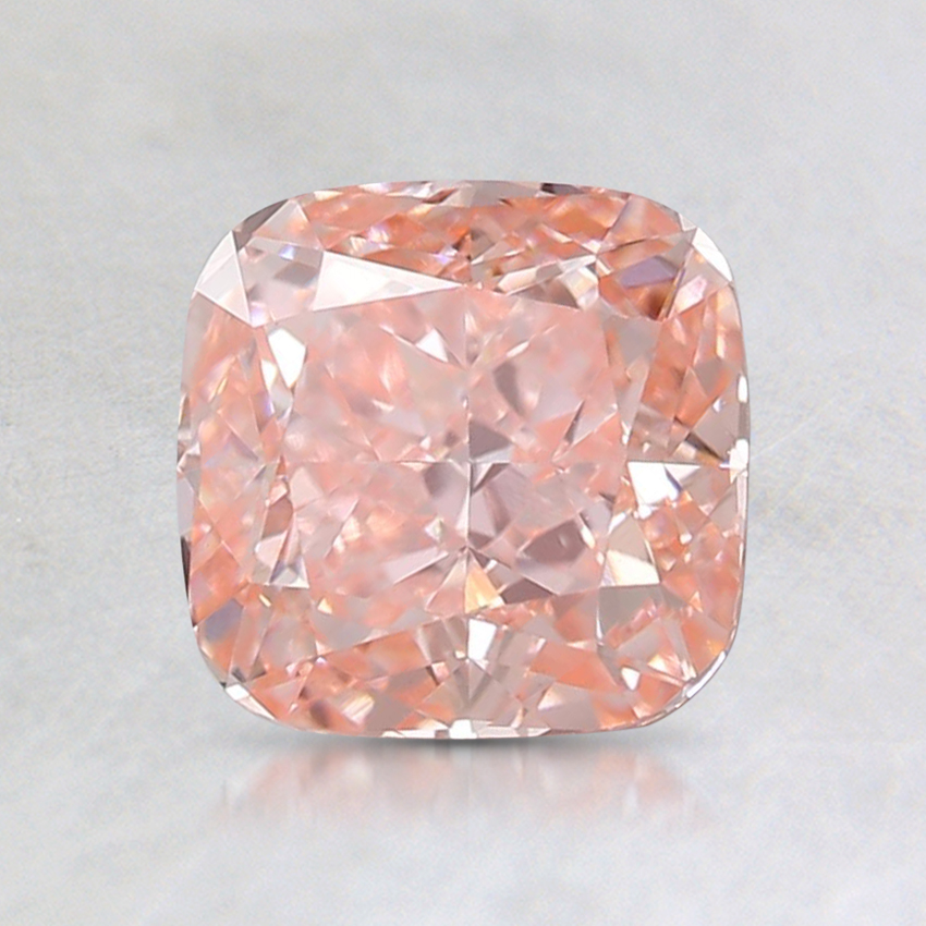1.24 Ct. Fancy Intense Orange-Pink Cushion Lab Created Diamond