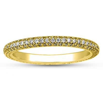 18K Yellow Gold Allegra Diamond Eternity Ring (over 3/4 ct. tw.), top view