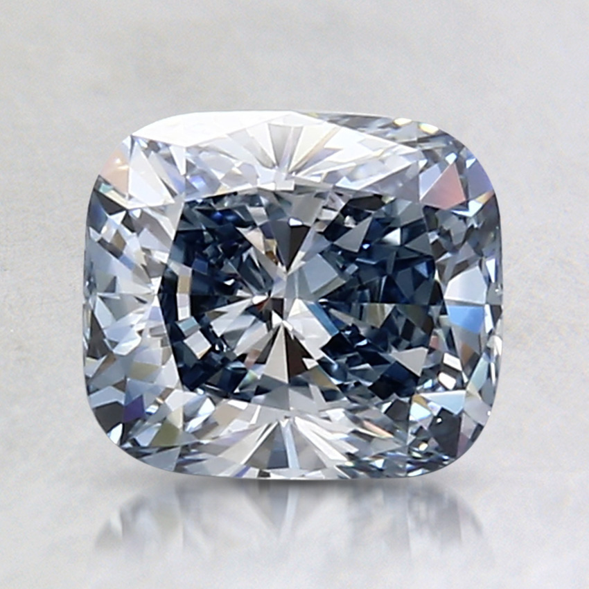 1.52 Ct. Fancy Blue Cushion Lab Created Diamond
