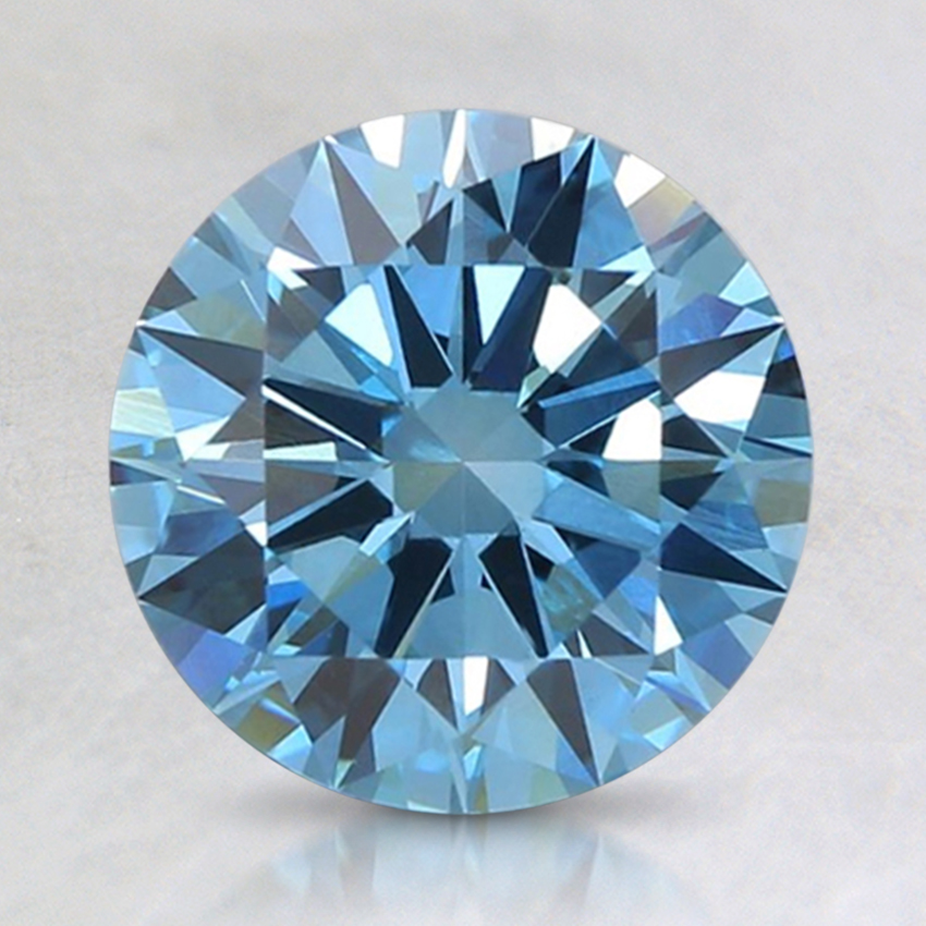 1.65 Ct. Fancy Intense Blue Round Lab Created Diamond