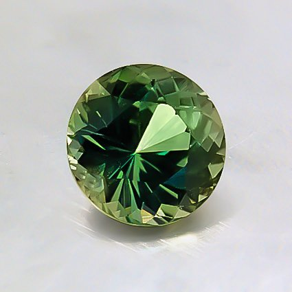 6mm Premium Green Round Sapphire, top view