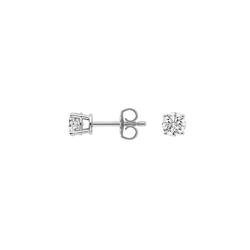 diamond stud in earrings qp jewellers dimond gold ctw