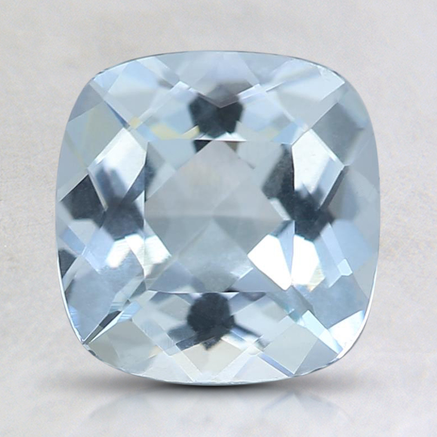 7.8x7.7mm Fine Cushion Aquamarine