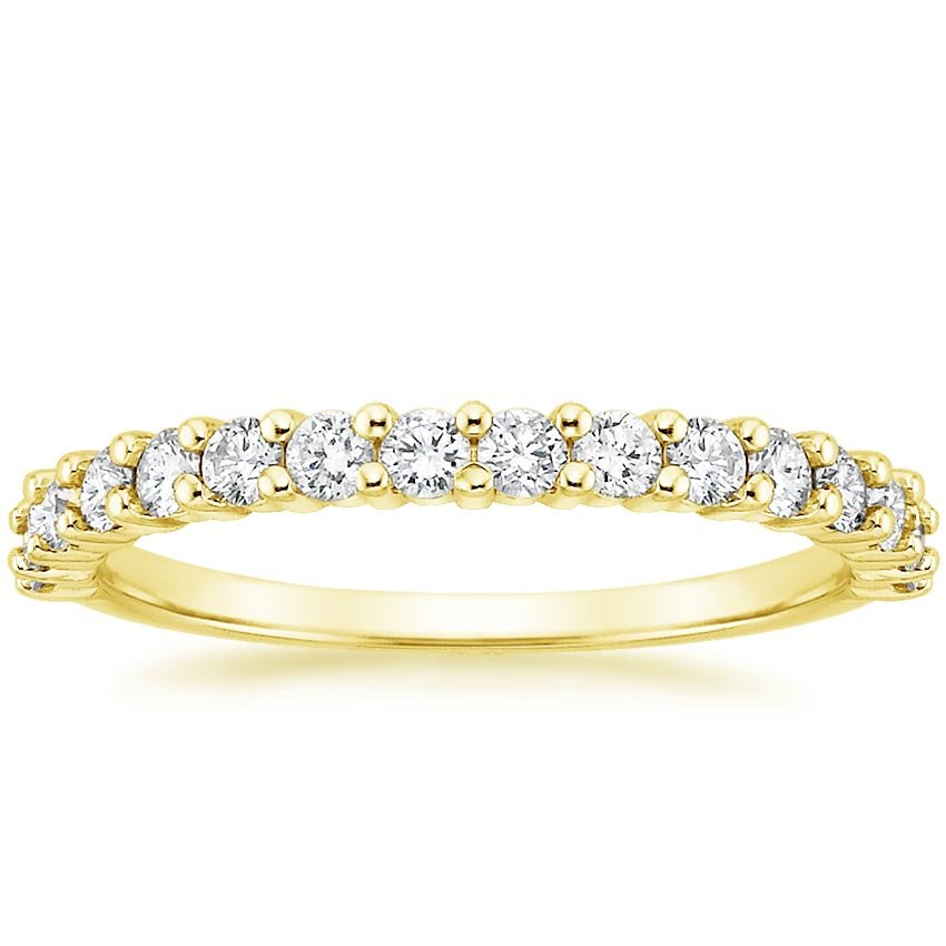 18K Yellow Gold Shared Prong Diamond Ring (1/2 ct. tw.), top view