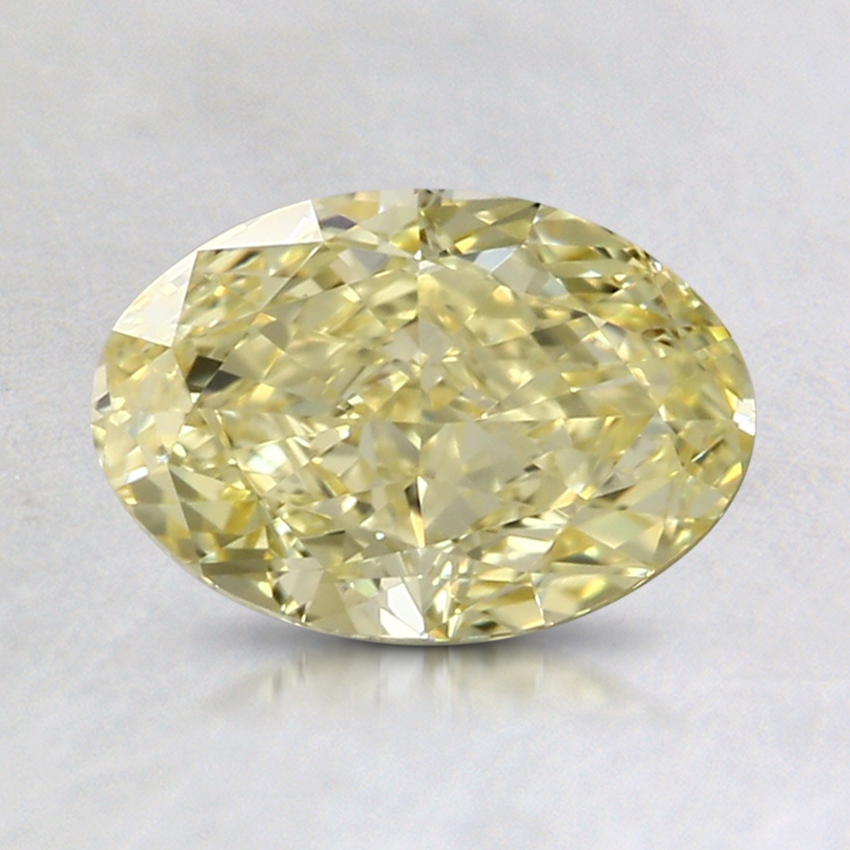 1.20 Ct. Fancy Intense Yellow Oval Colored Diamond
