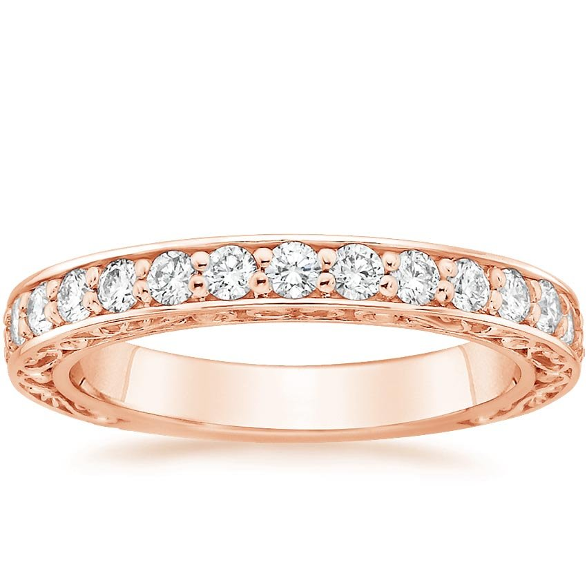 Rose Gold Antique Scroll Diamond Ring (1/2 ct. tw.)
