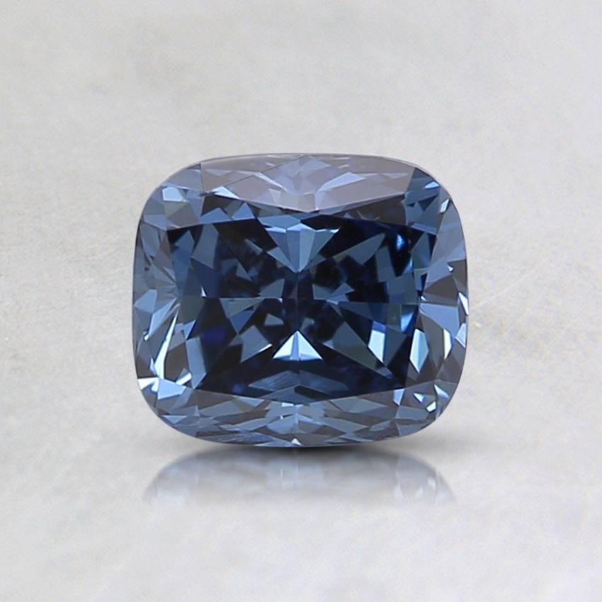 0.71 Ct. Fancy Intense Blue Cushion Lab Created Diamond