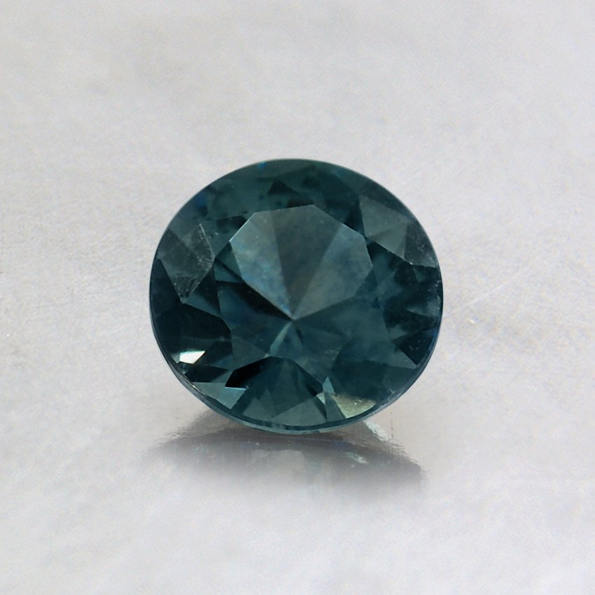 5mm Montana Teal Round Sapphire, top view