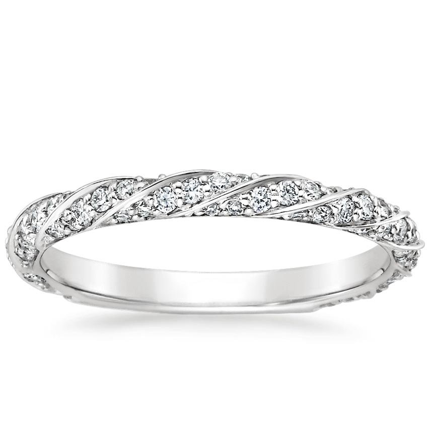 Twisted Pavé Diamond Ring