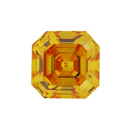 Orange Asscher Lab Created Diamond