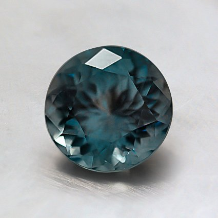 6.4mm Premium Montana Teal Round Sapphire, top view