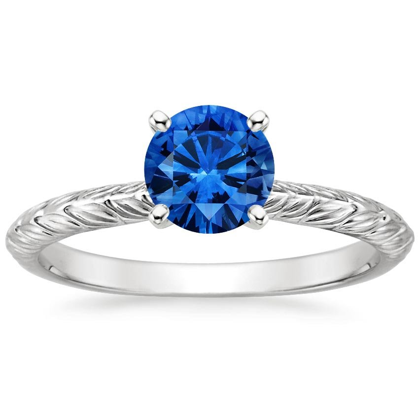 Platinum Sapphire Garland Ring, top view