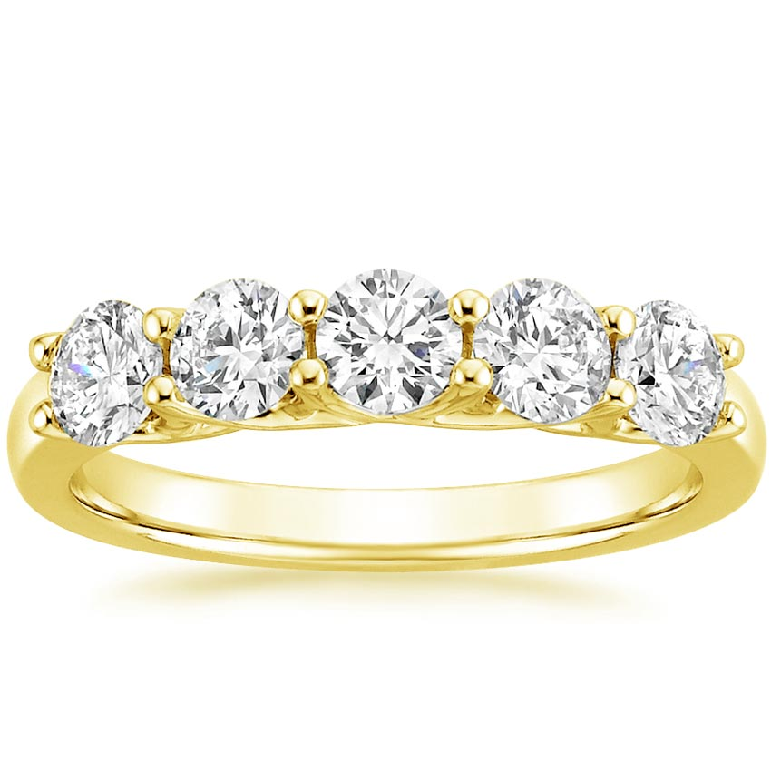 Yellow Gold Signature Five Stone Trellis Diamond Ring (7/8 ct. tw.)