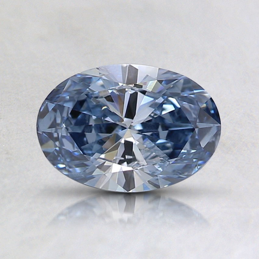 0.70 Ct. Fancy Intense Blue Oval Lab Created Diamond