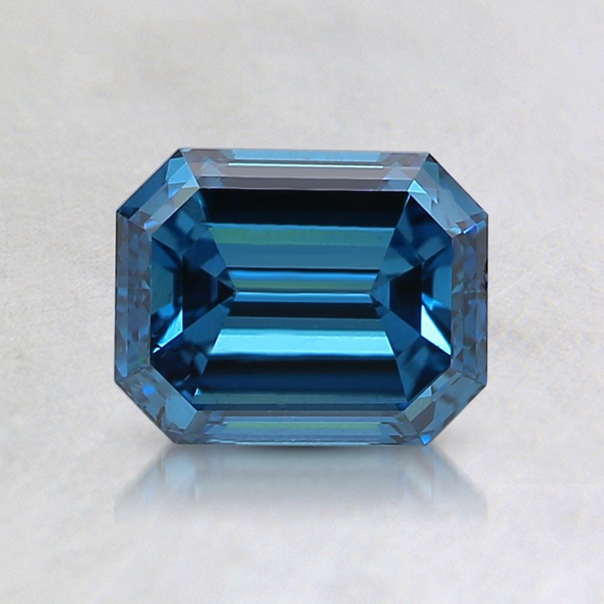 1.00 Ct. Fancy Deep Blue Emerald Lab Created Diamond