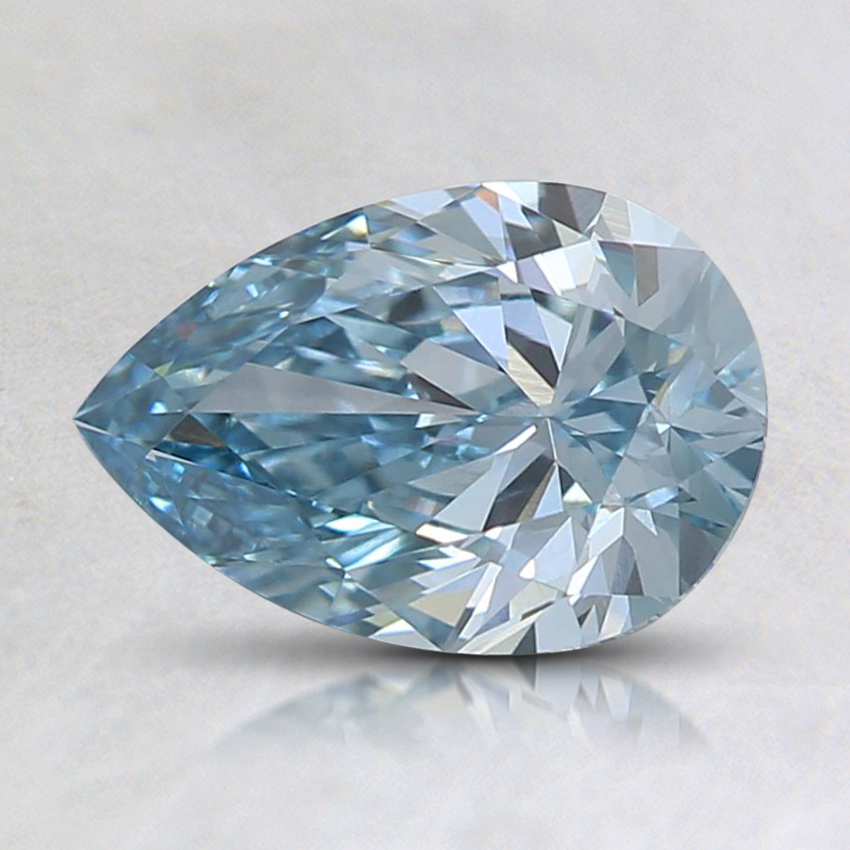 1.00 Ct. Fancy Intense Green-Blue Pear Lab Created Diamond