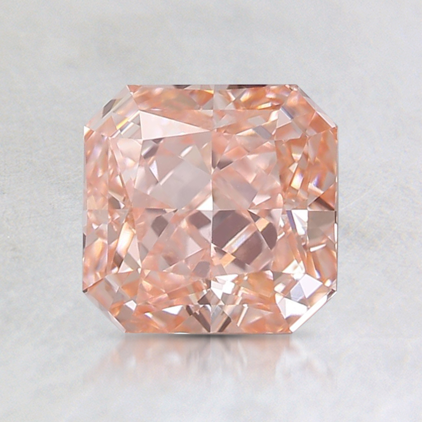 1.24 Ct. Fancy Intense Pink-Orange Radiant Lab Created Diamond
