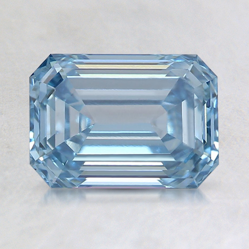 1.52 Ct. Fancy Blue Emerald Lab Created Diamond