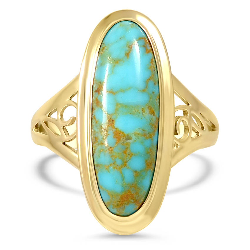 Retro Turquoise Cocktail Ring