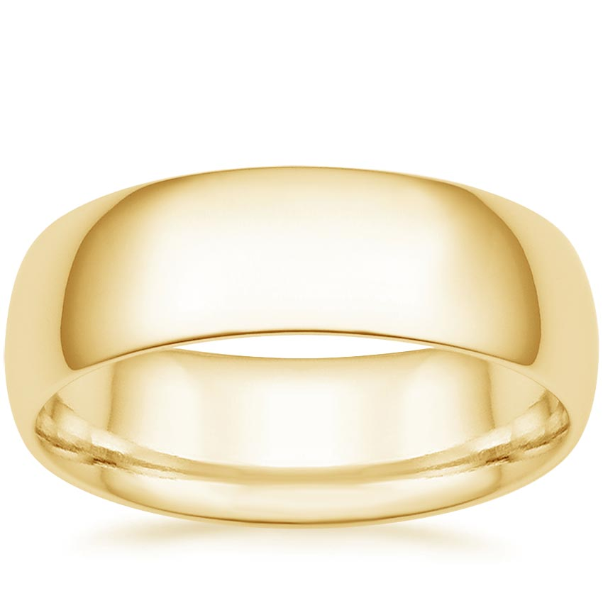 Yellow Gold 7mm Comfort Fit Wedding Ring