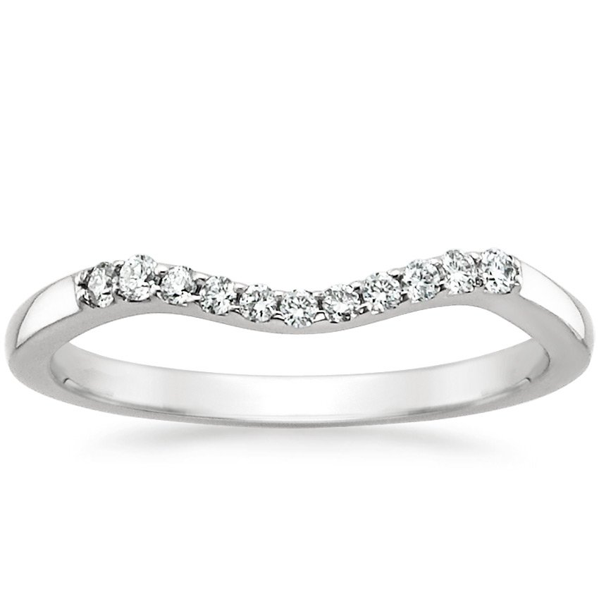 18K White Gold Chamise Diamond Ring, top view