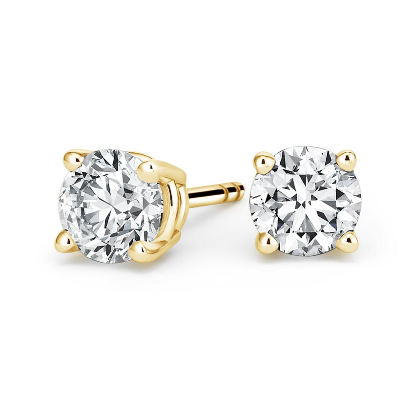Round Diamond Stud Earrings (4 ct. tw.) in 18K Yellow Gold