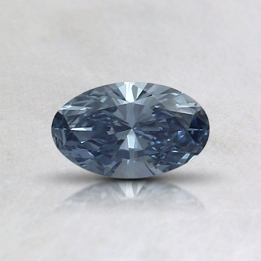 0.31 Ct. Fancy Blue Oval Lab Created Diamond