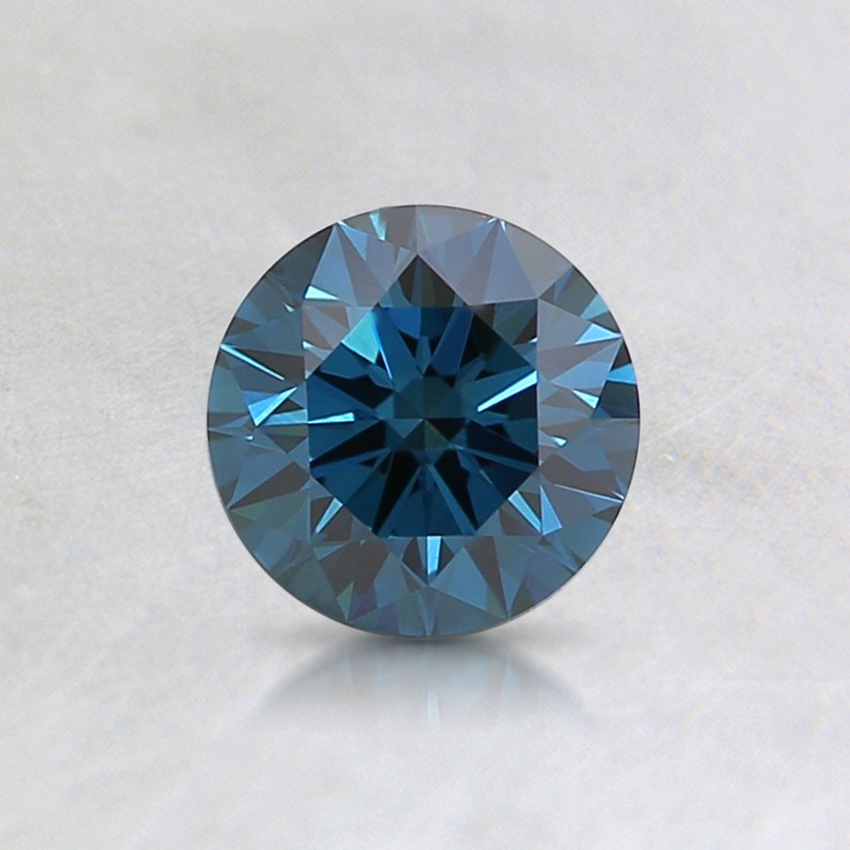 0.56 Ct. Fancy Dark Blue Round Lab Created Diamond