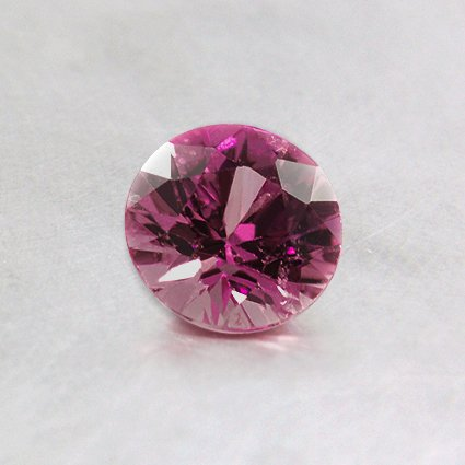 5mm Pink Round Sapphire, top view