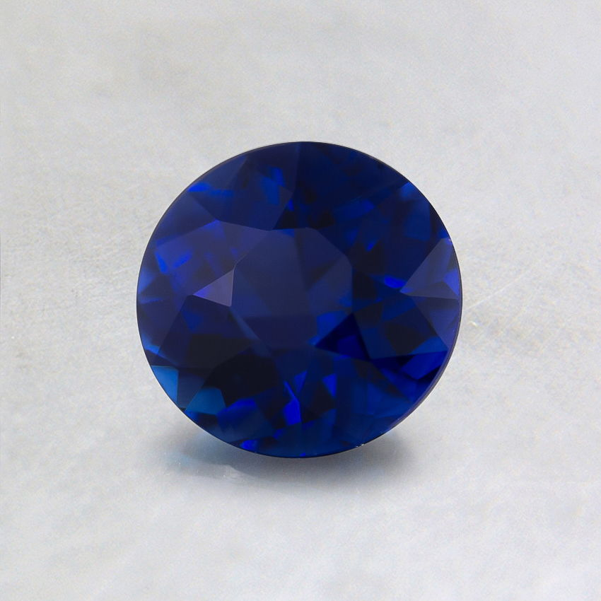 5.5mm Super Premium Blue Round Sapphire, top view