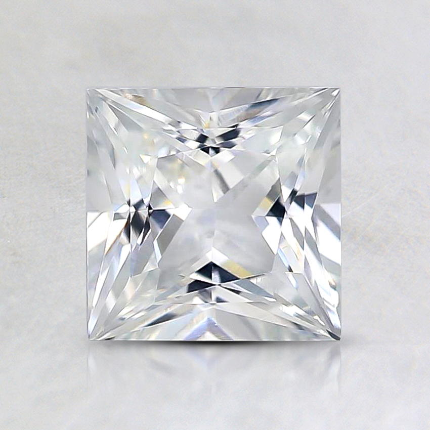 6mm White Princess Sapphire, top view