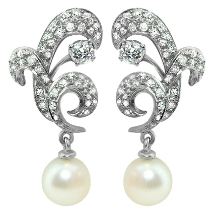 The Swan Earrings, top view
