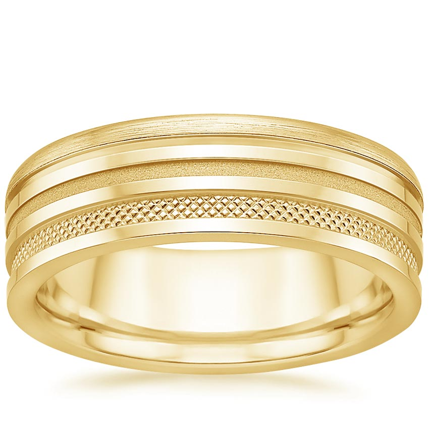 Yellow Gold Jagger Wedding Ring