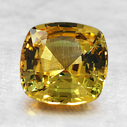 7mm Yellow Cushion Sapphire