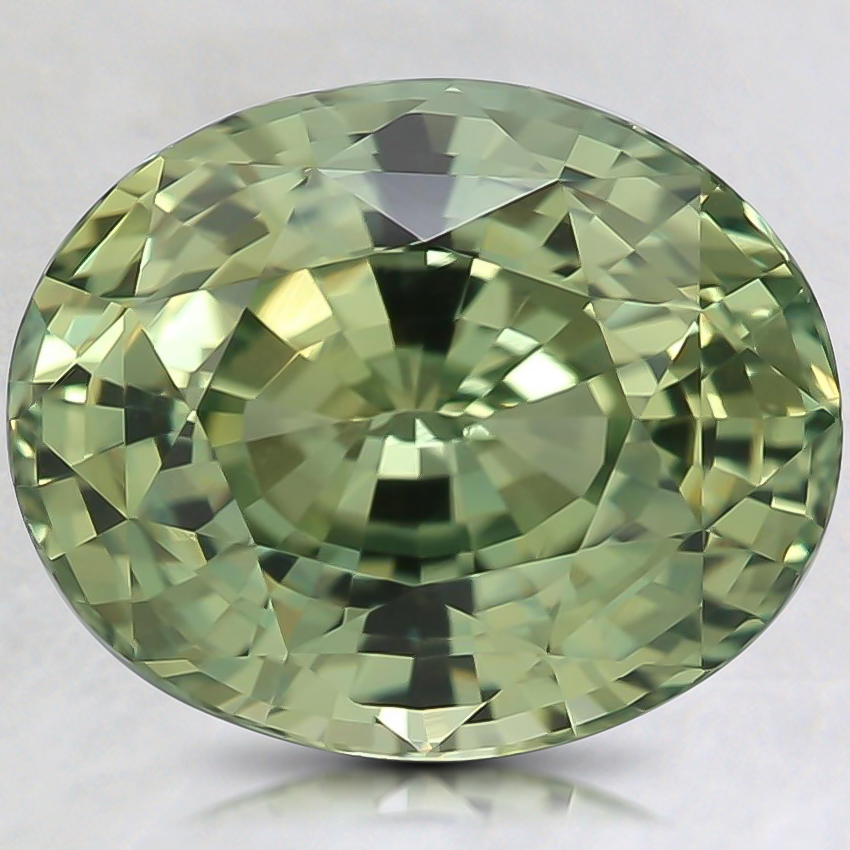 10.3x8.4mm Unheated Green Oval Sapphire
