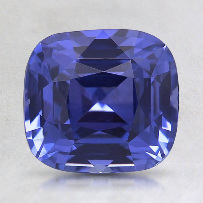 7.8x7.2mm Unheated Purple Cushion Sapphire