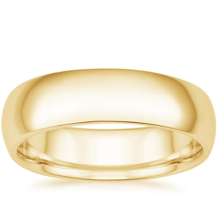 Yellow Gold 6mm Comfort Fit Wedding Ring
