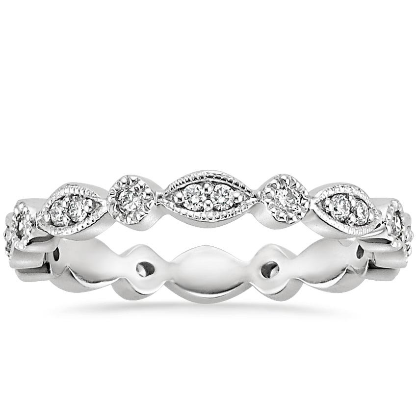 Platinum Tiara Eternity Diamond Ring (3/8 ct. tw.), top view