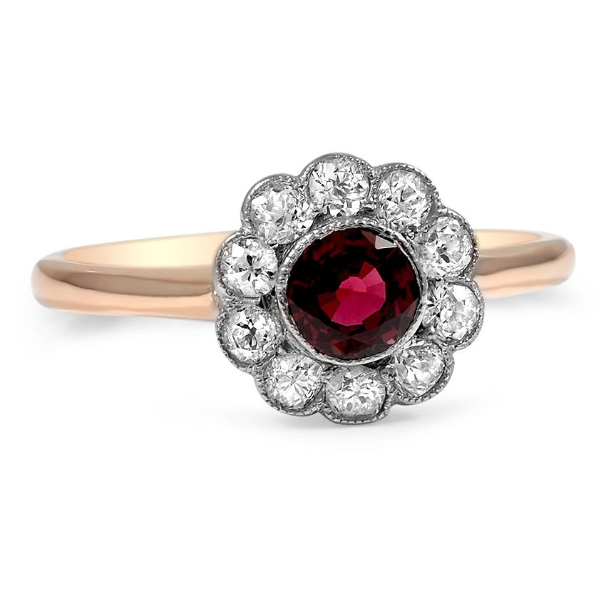 Edwardian Zircon Vintage Ring