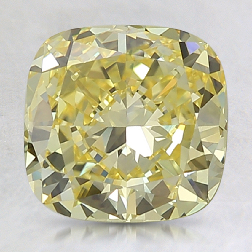 2.33 Ct. Fancy Intense Yellow Cushion Lab Created Diamond