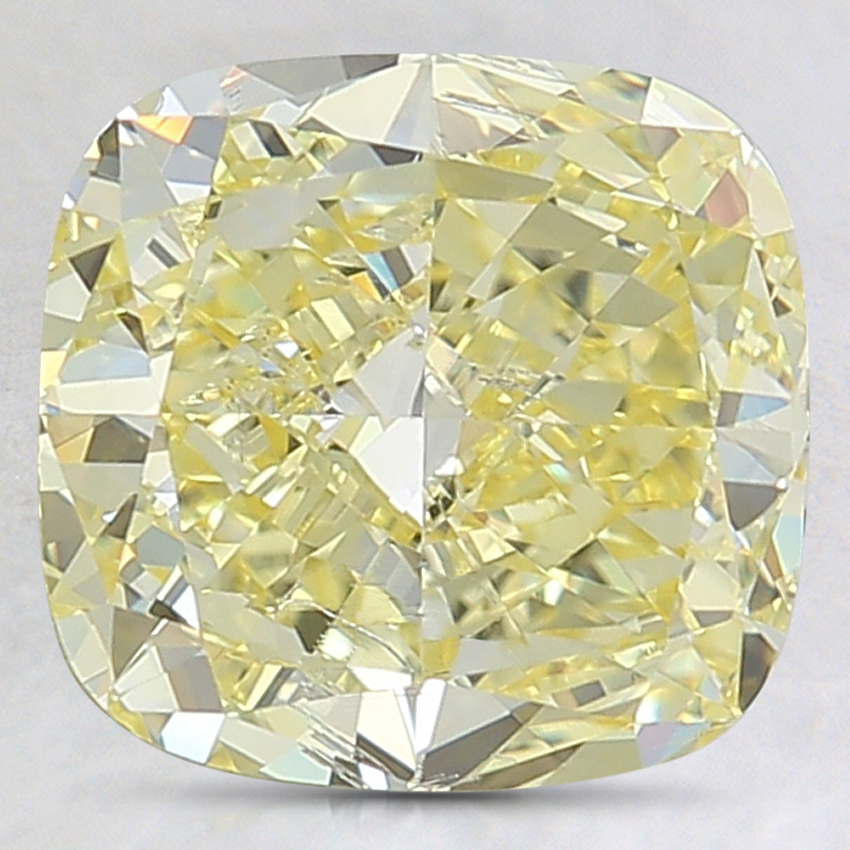 3.12 Ct. Fancy Intense Yellow Cushion Lab Created Diamond