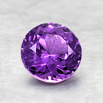 6.4mm Purple Round Sapphire, top view