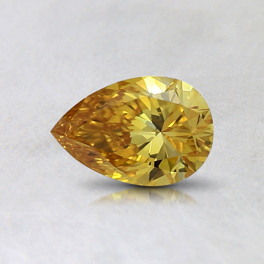 0.41 Ct. Fancy Intense Orange-Yellow Pear Lab Created Diamond