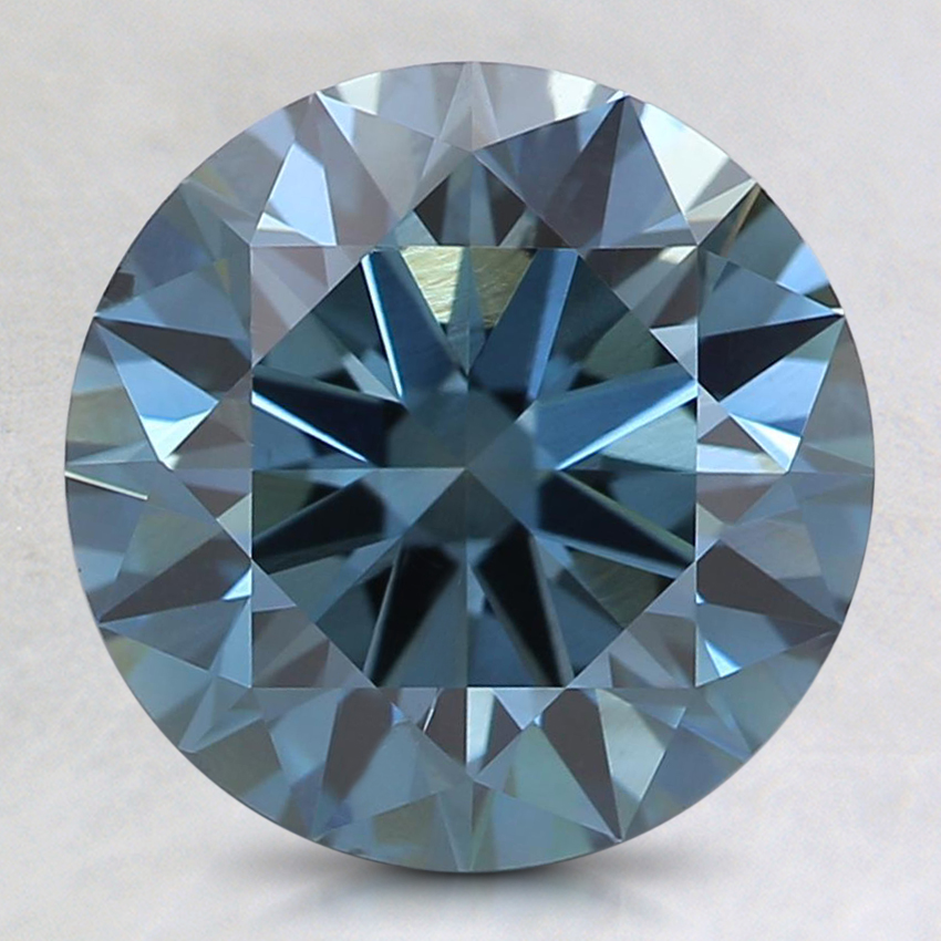 2.53 Ct. Fancy Deep Blue Round Lab Created Diamond