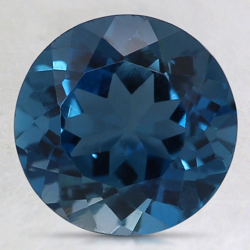 9mm Blue Round Topaz