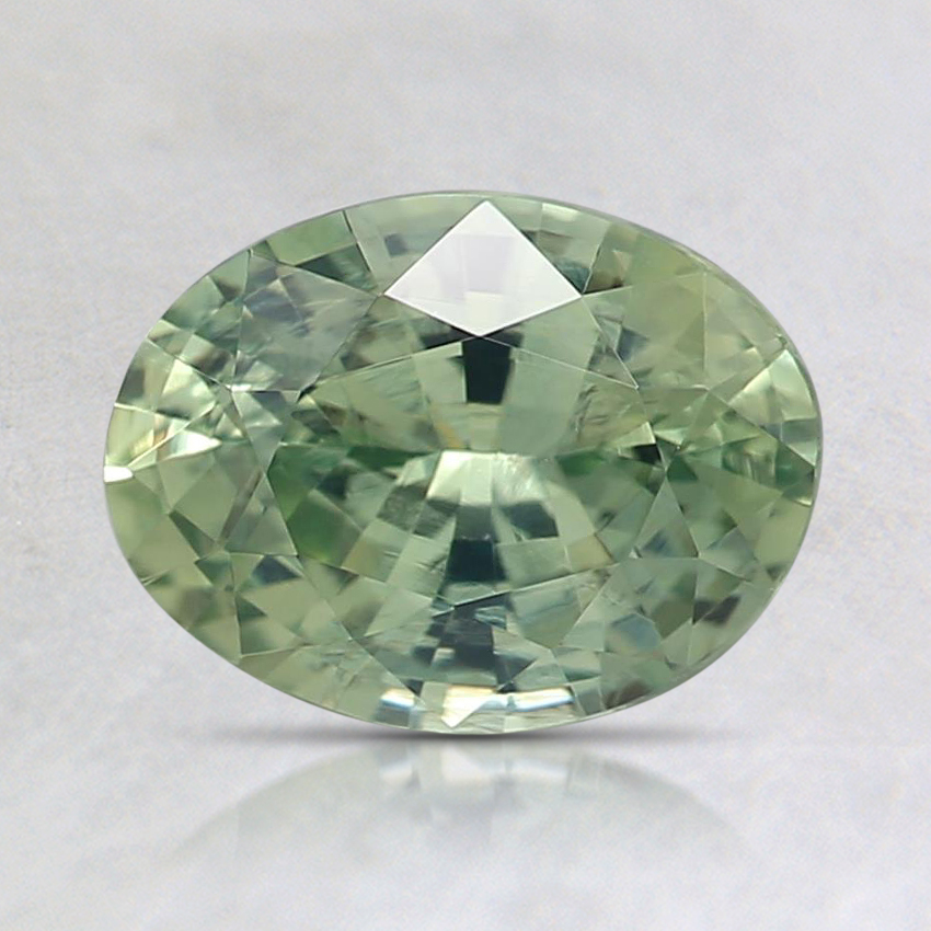 6.1x5.9mm Unheated Green Oval Sapphire