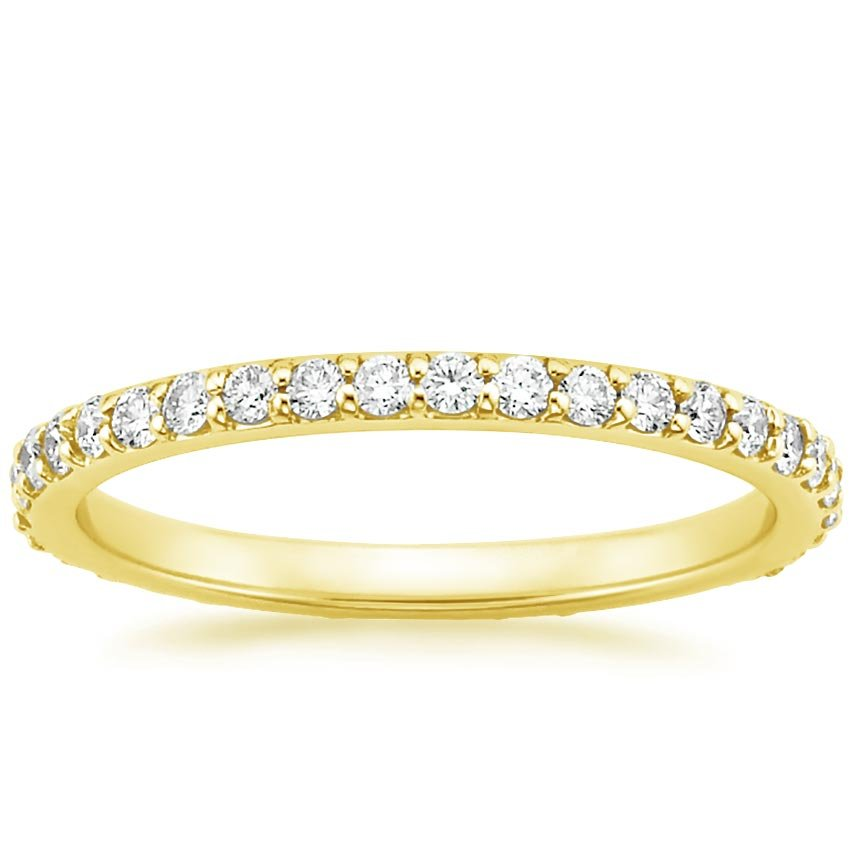 18K Yellow Gold Eternity Petite Shared Prong Diamond Ring (1/2 ct. tw.), top view